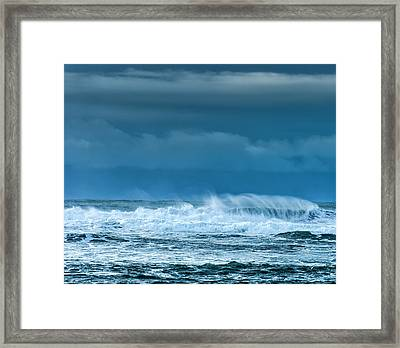 Rough Waters Off Iceland Framed Print by Duane Miller