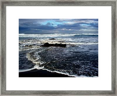 Rough Waters Framed Print by Trisha Allard