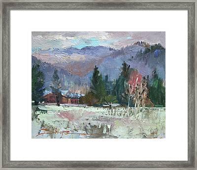 Rough Winter  Framed Print