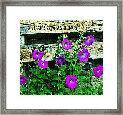 Roughin It Love Framed Print by ARTography by Pamela Smale Williams
