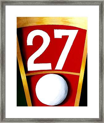 Roulette 27 Red  Framed Print by Teo Alfonso
