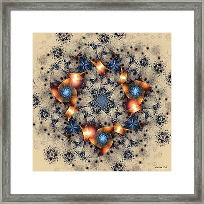 Framed Print featuring the digital art Round About by Kim Redd