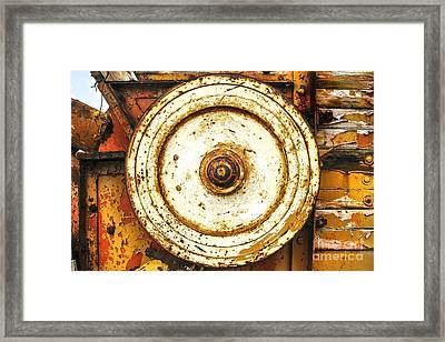 Round And Around And Framed Print by Kim Lessel