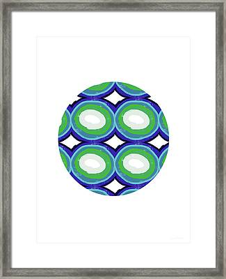Round And Round Ball- Art By Linda Woods Framed Print by Linda Woods