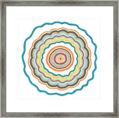Framed Print featuring the drawing Round And Round by Jill Lenzmeier