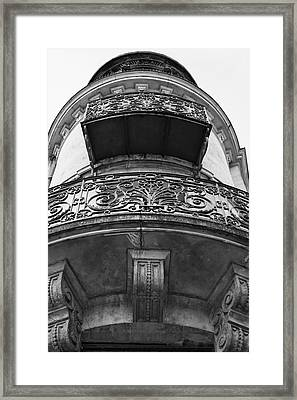 Round Balcony In France Framed Print