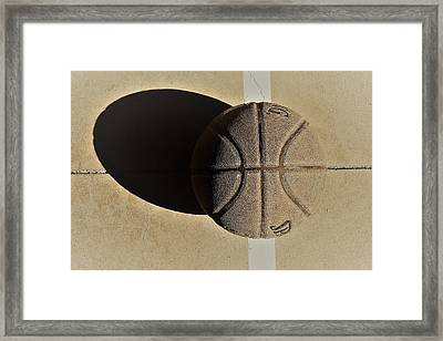 Round Ball And Shadow Framed Print
