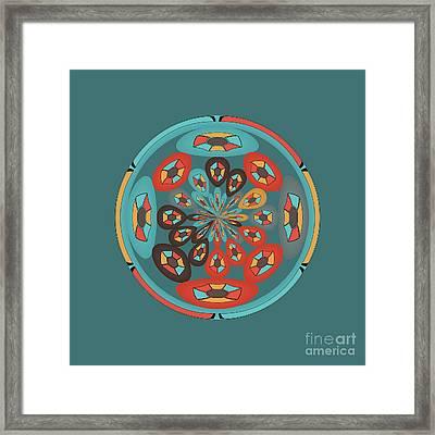 Round Geometric Design Framed Print