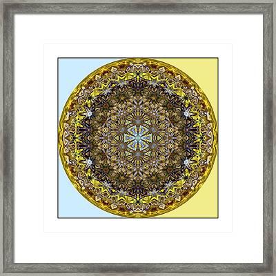 Round Geometric Design Framed Print by Susan Leggett