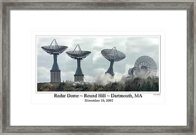 Round Hill Radar Demolition Framed Print