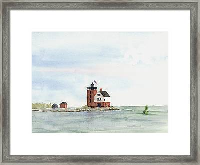 Round Island Lighthouse Framed Print by Susan Mahoney