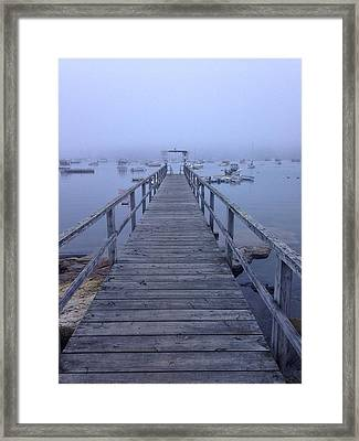 Framed Print featuring the photograph Round Pond by Olivier Calas