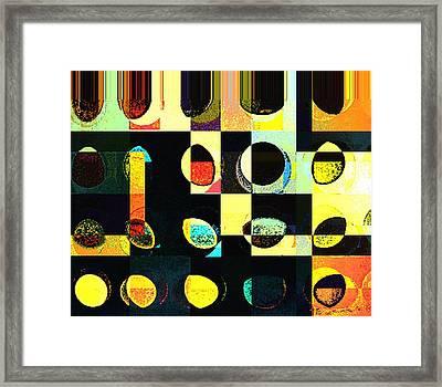 Round Series 50 Framed Print by Teodoro De La Santa