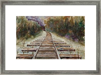 'round The Bend Framed Print by Renee Chastant