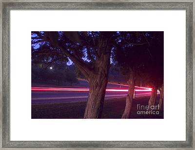 Round The Bend Framed Print by Xn Tyler