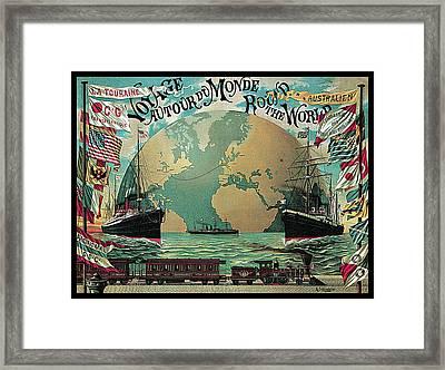 Round The World Voyage Framed Print by A Schindeler