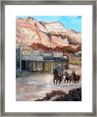 Round-up Framed Print by CJ  Rider