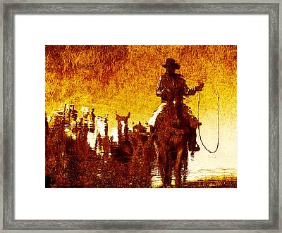 Round Up Reflection Framed Print by Nick Sokoloff