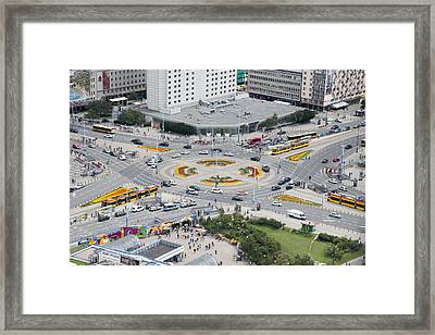 Framed Print featuring the photograph Roundabout In Warsaw by Chevy Fleet