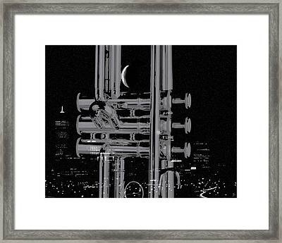 Round'bout Midnight Framed Print