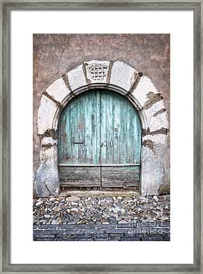 Round Door Framed Print
