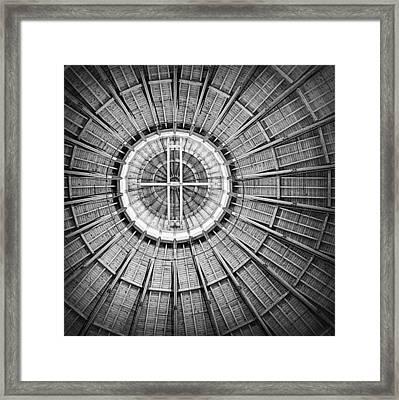 Roundhouse Architecture - Black And White Framed Print by Joseph Skompski