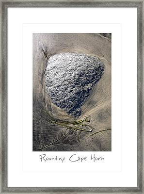 Rounding Cape Horn Framed Print by Peter Tellone