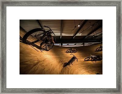 Rounding The Bend Framed Print by Randy Scherkenbach