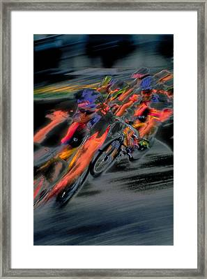 Rounding The Corner Framed Print