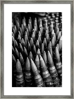 Rounds For Rounds Bw Framed Print by Liesl Marelli