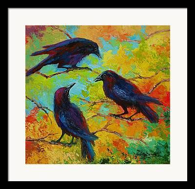 Crows Paintings Framed Prints