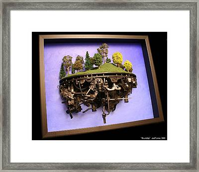 Roundup Framed Print by Jud  Turner