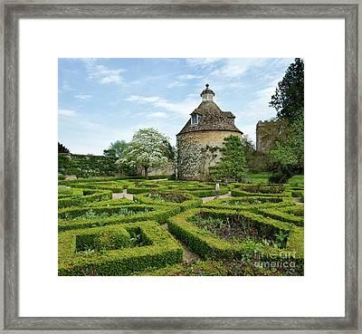 Rousham Gardens In Spring Framed Print