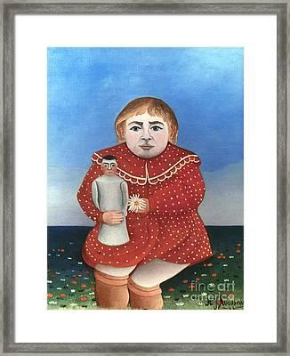 Rousseau: Child/doll, C1906 Framed Print by Granger