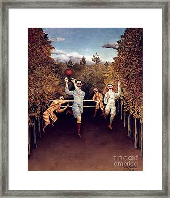 Rousseau: Football, 1908 Framed Print by Granger