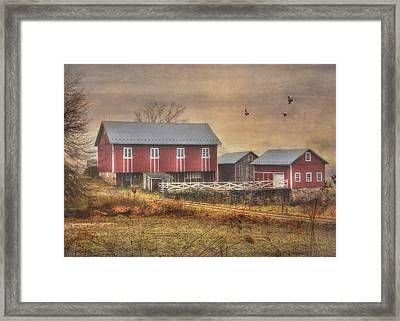 Route 419 Barn Framed Print by Lori Deiter