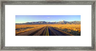 Route 50, Road To Great Basin National Framed Print by Panoramic Images