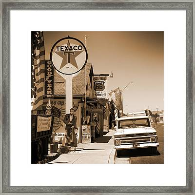 Route 66 - Angel And Vilma's Framed Print by Mike McGlothlen