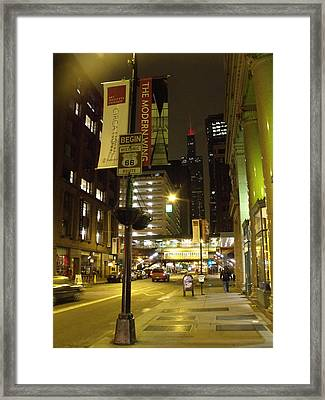 Route 66 Framed Print by Anna Villarreal Garbis