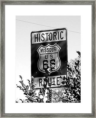Route 66 Framed Print by Audrey Venute