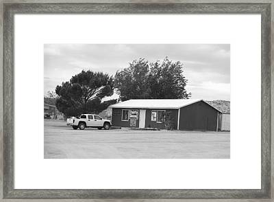 Route 66 - Bert's Country Dancing Bw Framed Print