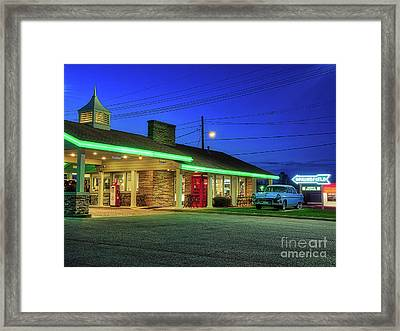 Route 66 Best Western Framed Print