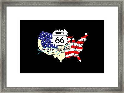 Route 66 Framed Print by Carol and Mike Werner