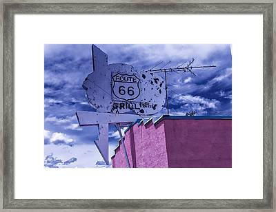 Route 66 Grill Framed Print by Garry Gay