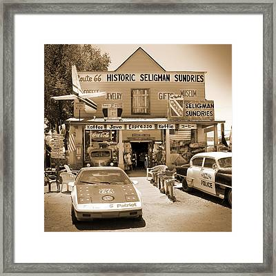 Route 66 - Historic Sundries Framed Print by Mike McGlothlen