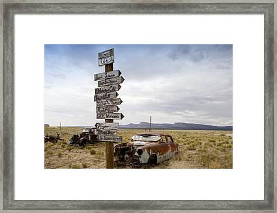 Route 66 In Arizona Framed Print by Carol M Highsmith