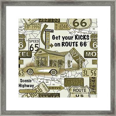Route 66-jp3936 Framed Print
