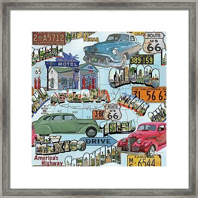 Route 66-jp3938 Framed Print