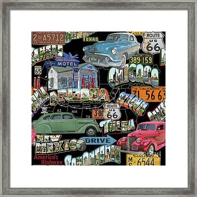 Route 66-jp3939 Framed Print