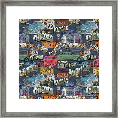 Route 66-jp3940-b Framed Print
